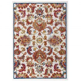 Juliana Azami Distressed Vintage Floral Lattice 5x8 Area Rug