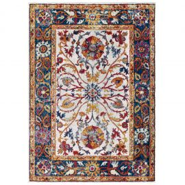 Juliana Samira Distressed Vintage Floral Persian Medallion 5x8 Area Rug