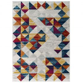 Juliana Elettra Distressed Geometric Triangle Mosaic 5x8 Area Rug