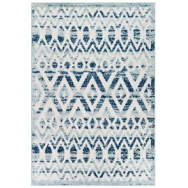 Mirror Tamako Diamond and Chevron Moroccan Trellis 5x8 Indoor / Outdoor Area Rug