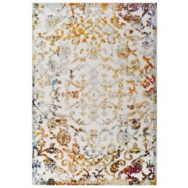 Mirror Primrose Ornate Floral Lattice 5x8 Indoor/Outdoor Area Rug