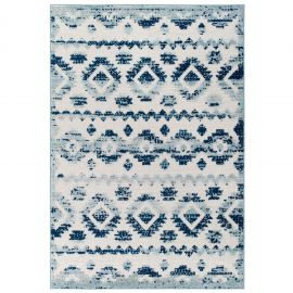 Mirror Takara Abstract Diamond Moroccan Trellis 5x8 Indoor and Outdoor Area Rug