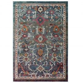 Alyssa Every Distressed Vintage Floral 5x8 Area Rug