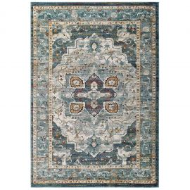Alyssa Diantha Distressed Vintage Floral Persian Medallion 5x8 Area Rug