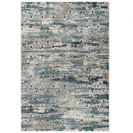 Alyssa Eisley Rustic Distressed Transitional Diamond Lattice 5x8 Area Rug