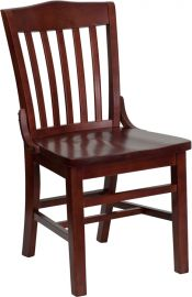 Marvelius Series School House Back Mahogany Wood Restaurant Chair