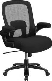 Marvelius Series Big & Tall 500 lb. Rated Black Mesh/Fabric Executive Ergonomic Office Chair with Adjustable Lumbar