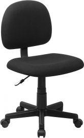 Mid-Back Black Fabric Swivel Task Office Chair