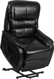 Marvelius Series Black Leather Remote Powered Lift Recliner