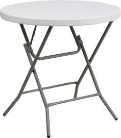 32'' Round Granite White PlParkerc Folding Table