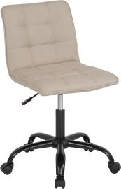 Ambrose Home and Office Task Chair in Beige Fabric