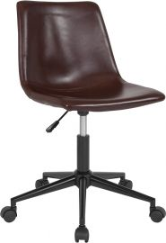 Demetrius Home and Office Task Chair in Brown Leather