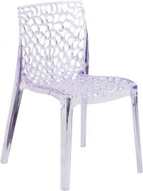 Vigna Series Transparent Stacking Side Chair