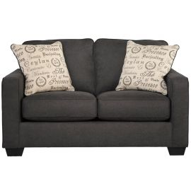 Signature Design by Ashley Alenna Loveseat in Charcoal Microfiber