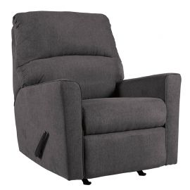 Signature Design by Ashley Alenna Rocker Recliner in Charcoal Microfiber