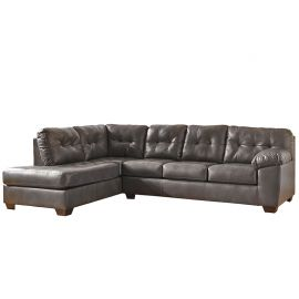 Signature Design by Ashley Alastair Sectional with Left Side Facing Chaise in Gray DuraBlend