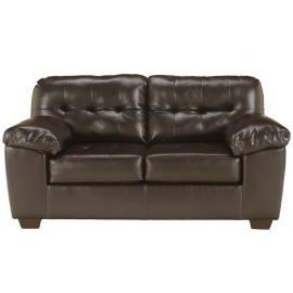 Signature Design by Ashley Alastair Loveseat in Chocolate DuraBlend