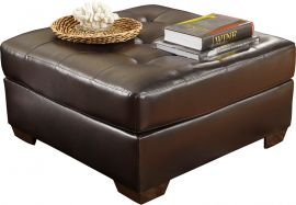 Signature Design by Ashley Alastair Oversized Ottoman in Chocolate DuraBlend