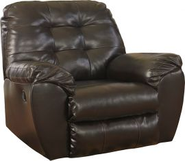 Signature Design by Ashley Alastair Rocker Recliner in Chocolate DuraBlend