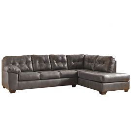Signature Design by Ashley Alastair Sectional with Right Side Facing Chaise in Gray DuraBlend