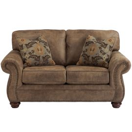 Signature Design by Ashley Allon Loveseat in Earth Faux Leather