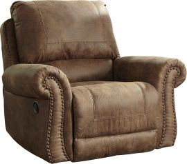 Signature Design by Ashley Allon Rocker Recliner in Earth Faux Leather