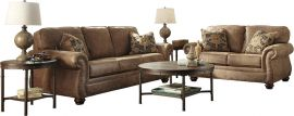 Signature Design by Ashley Allon Living Room Set in Earth Faux Leather