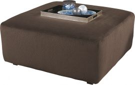 Signature Design by Ashley Locus Oversized Ottoman in Chocolate Fabric