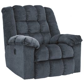 Signature Design by Ashley Domino Power Rocker Recliner in Blue Twill