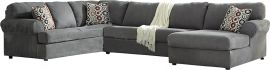 Signature Design by Ashley Jasper 3-Piece Left Side Facing Sofa Sectional in Steel Fabric