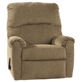 Signature Design by Ashley Pranot Wall Hugger Recliner in Cork Chenille