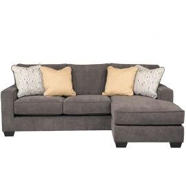 Signature Design by Ashley Holland Sofa Chaise in Marble Microfiber