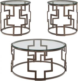 Signature Design by Ashley Francis 3 Piece Occasional Table Set