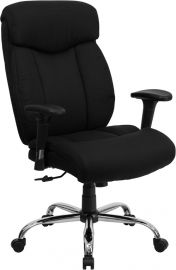 Marvelius Series Big & Tall 400 lb. Rated Black Fabric Executive Ergonomic Office Chair with Full Headrest and Arms