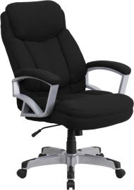 Marvelius Series Big & Tall 500 lb. Rated Black Fabric Executive Swivel Ergonomic Office Chair with Arms