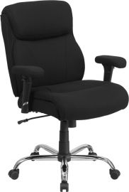 Marvelius Series Big & Tall 400 lb. Rated Black Fabric Ergonomic Task Office Chair with Line Stitching and Adjustable Ar