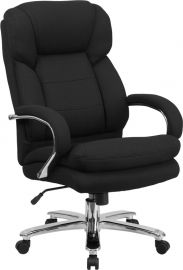 Marvelius Series 24/7 Intensive Use Big & Tall 500 lb. Rated Black Fabric Executive Ergonomic Office Chair with Loop Arm