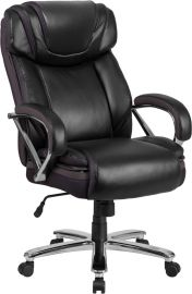 Marvelius Series Big & Tall 500 lb. Rated Black Leather Executive Swivel Ergonomic Office Chair with Extra Wide Seat