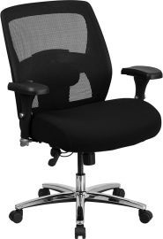 Marvelius Series 24/7 Intensive Use Big & Tall 500 lb. Rated Black Mesh Executive Ergonomic Office Chair with Ratchet Ba