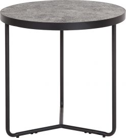 "Prudence 19.5"" Round End Table in Concrete Finish"