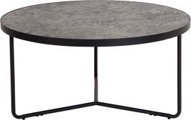"""Prudence 31.5"""" Round Coffee Table in Concrete Finish"""
