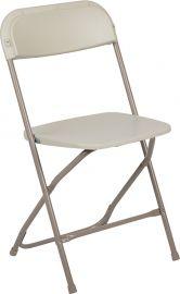Marvelius Series 650 lb. Capacity Premium Beige PlParkerc Folding Chair