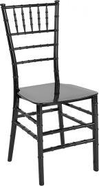 Marvelius Series Black Resin Stacking Chiavari Chair
