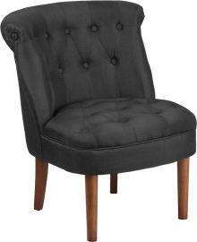 Marvelius Kendra Series Black Fabric Tufted Chair