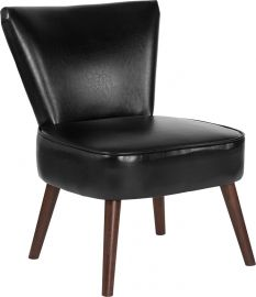 Marvelius Hollyn Series Black Leather Retro Chair
