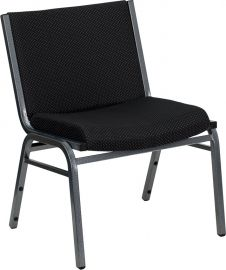 Marvelius Series Big & Tall 1000 lb. Rated Black Fabric Stack Chair