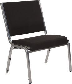 Marvelius Series 1500 lb. Rated Black Fabric Bodenatric Medical Reception Chair