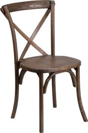 Marvelius Series Stackable Early American Wood Cross Back Chair