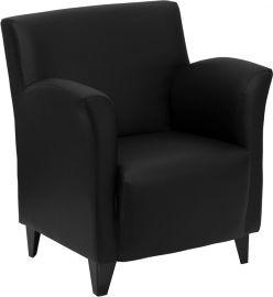 Marvelius Hellenic Series Black Leather Lounge Chair