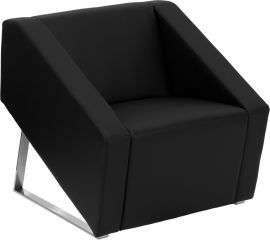 Marvelius Chic Series Black Leather Lounge Chair